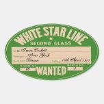 White Star Line (To customize) Sticker