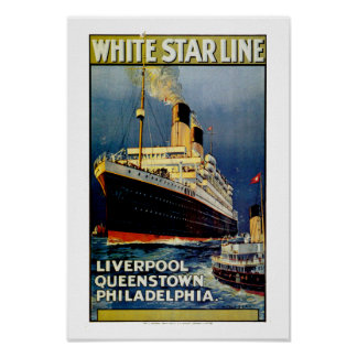 White Star Line to Philadelphia Poster