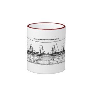 White Star Liners Ringer Coffee Mug