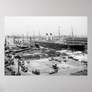White Star Line's Pier Poster