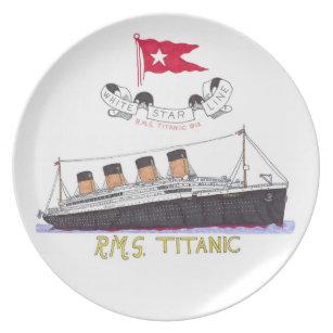 White Star Line's Titanic Dinner Plate