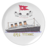 White Star Line's Titanic Party Plate