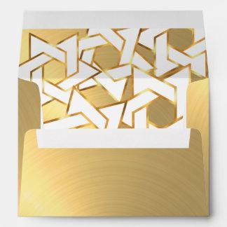 White Star of David on Gold Envelope