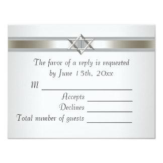 White Star of David RSVP Custom Invitation