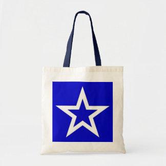 White Star on Blue - Bag/Tote Tote Bag