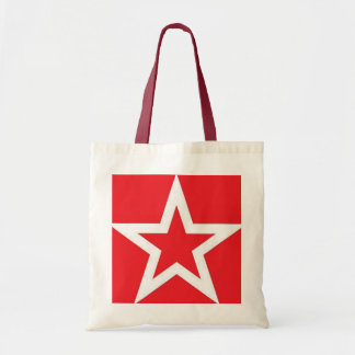 White Star on Red - Bag/Tote Tote Bag