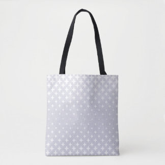 White Star Pattern Grey Tote Bag