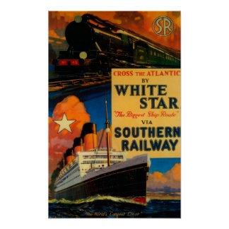 White Star SR Vintage PosterEurope Print