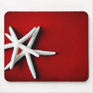 Beach Themed White Starfish Mousepad
