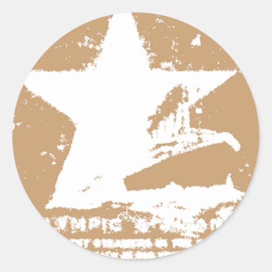 White Starr 2 Classic Round Sticker
