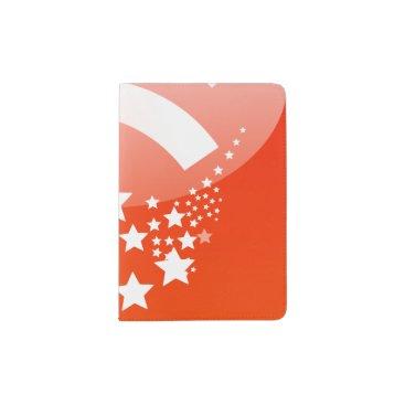 Professional Business White Stars Custom Passport Holder