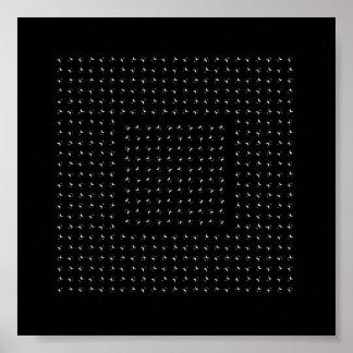 white stars glitter moves print