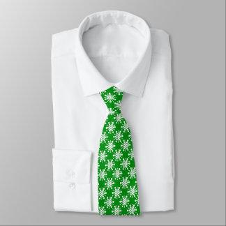 White stars on green tie