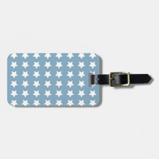 White Stars On Grey Blue Tag For Luggage