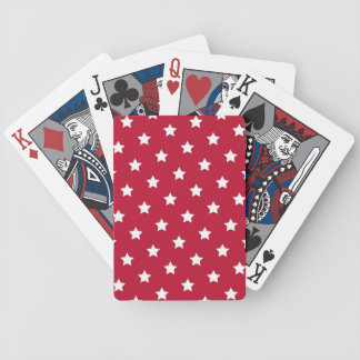 White Stars On Red Deck Of Cards