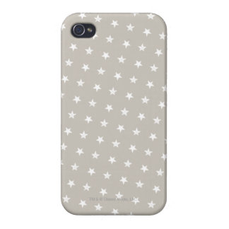 White Stars Pattern iPhone 4 Case