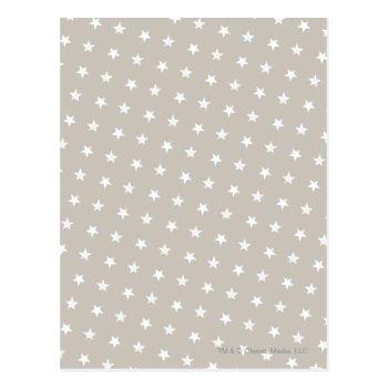 White Stars Pattern Postcard by casper at Zazzle