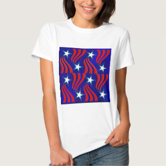 White Stars, Red Stripes and Blue Background T-shirt