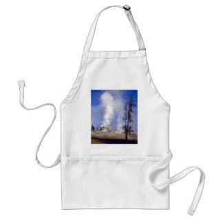 White steam, Upper Geyser Basin, Yellowstone Natio Adult Apron