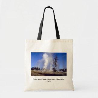 White steam Upper Geyser Basin Yellowstone Natio Bags