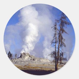 White steam, Upper Geyser Basin, Yellowstone Natio Stickers