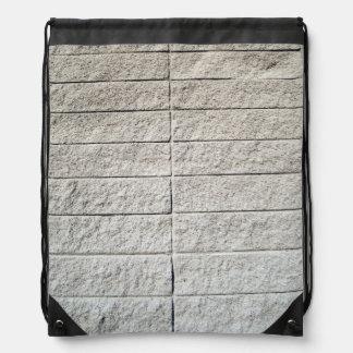 White Stone Brick Drawstring Bag