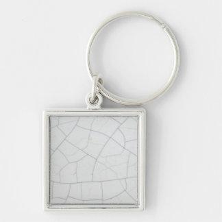 White stone cracks key chain
