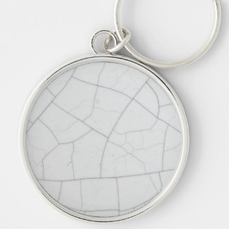 White stone cracks keychain