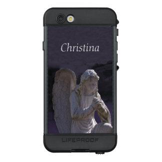 White Stone Praying Angel Statue on Deep Purple LifeProof NÜÜD iPhone 6s Case