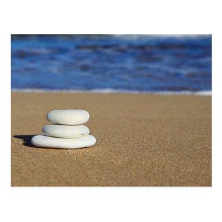 White stones postcard