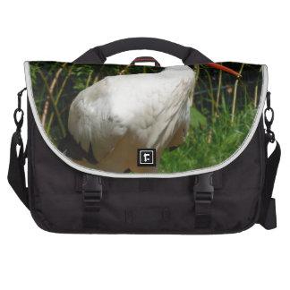 White Stork Bird Laptop Commuter Bag