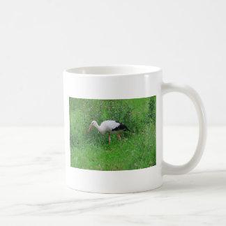 White stork classic white coffee mug
