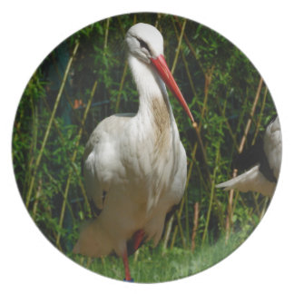 White Stork Party Plate