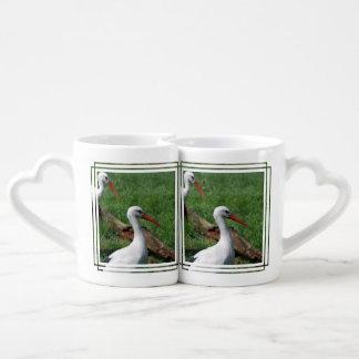 White Stork Couples' Coffee Mug Set