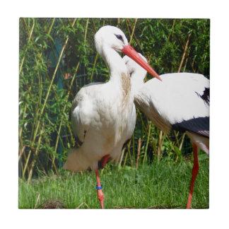 White Stork Tile