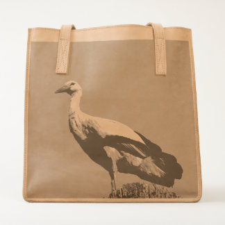 White Stork with blue sky Tote