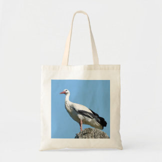 White Stork with blue sky Tote Bag
