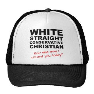 White Straight Conservative Christian Ball Cap Hat