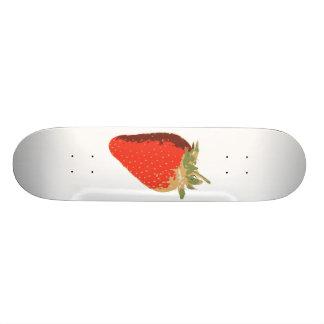 White Strawberry Skateboard