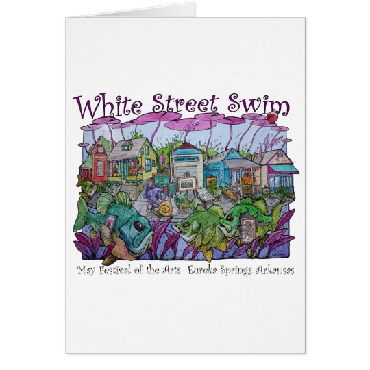 White Street Swim Eureka Springs Card
