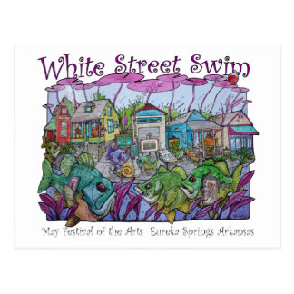 White Street Swim Eureka Springs Postcard