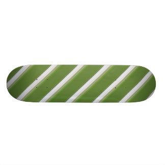 White Stripe on Green Skateboard