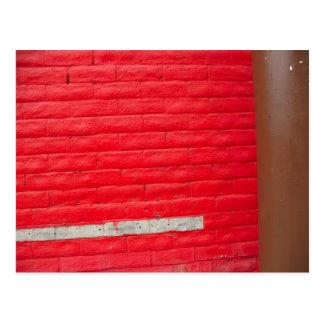 White Stripe Red Wall postcard