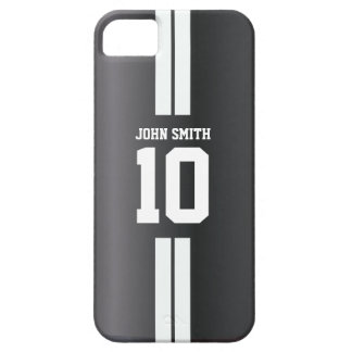 White Stripe Soccer Jersey Dark iPhone 5 Case
