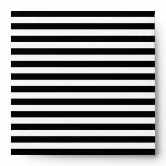 White Striped Envelope envelope
