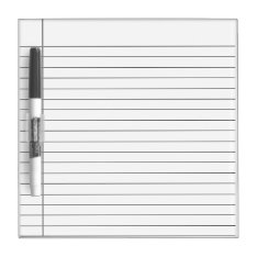 White Striped Lines, White Line Writing Note Board at Zazzle