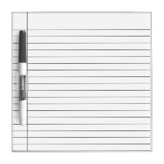WHITE STRIPED LINES, WHITE LINE WRITING NOTE BOARD