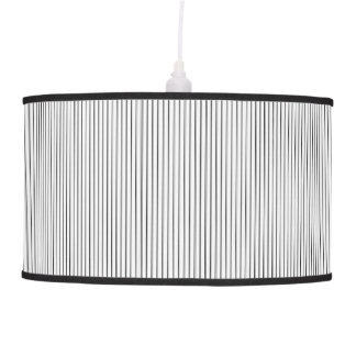 White Striped Pendent Lamp