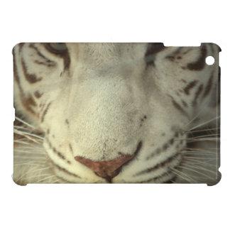 White Striped Tiger iPad Mini Cases