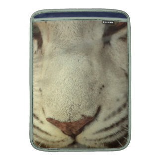 White Striped Tiger Sleeves For MacBook Air